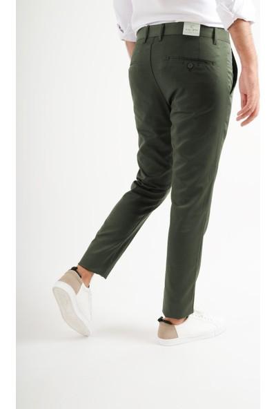 Luppo Club Günlük Kumaş Yeşil Erkek Pantolon Salacak