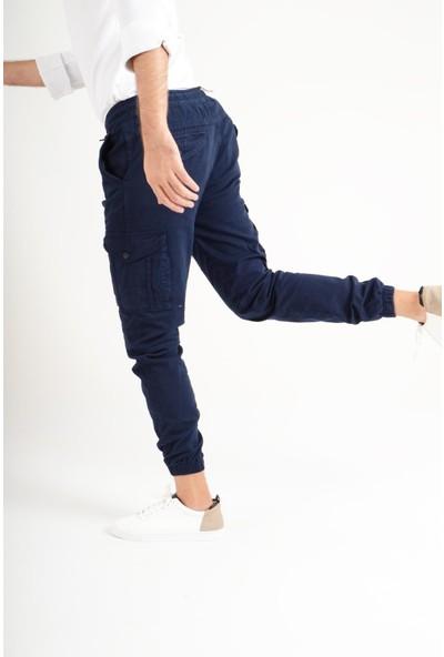 Luppo Club Kargo Bel ve Paçası Lastikli Lacivert Erkek Pantolon