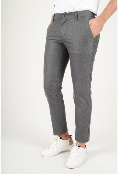 Luppo Club Kışlık Yün Efekt Kumaş Gri Erkek Pantolon Flanel