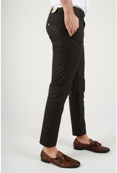 Luppo Club Kışlık Yün Efekt Kumaş Kahverengi Erkek Pantolon Flanel