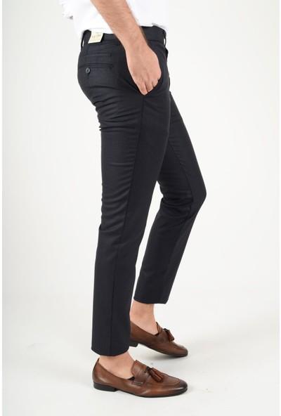 Luppo Club Kışlık Yün Efekt Kumaş Lacivert Erkek Pantolon Flanel
