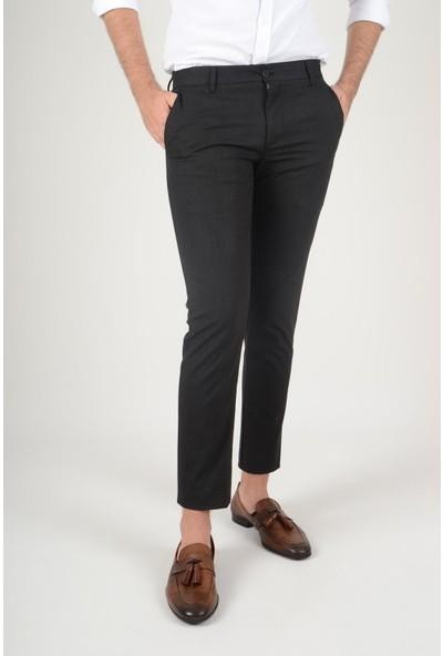 Luppo Club Kışlık Yün Efekt Kumaş Siyah Erkek Pantolon Flanel