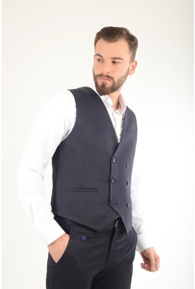 Luppo Club Kruvaze Astarlı Lacivert Erkek Cepken Yelek