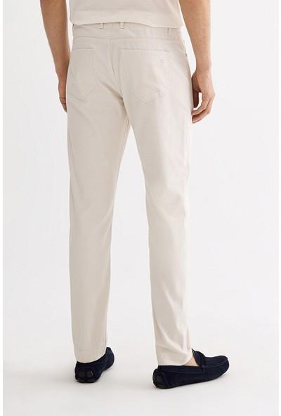 Avva Erkek Krem 5 Cepli Armürlü Slim Fit Pantolon A01S3072
