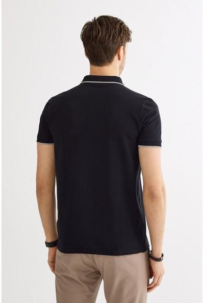 Avva Erkek Siyah Polo Yaka Düz Cepli T-Shirt A01S1273
