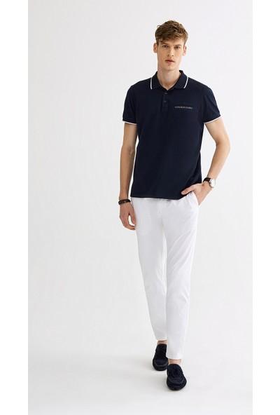Avva Erkek Lacivert Polo Yaka Düz Cepli T-Shirt A01S1273