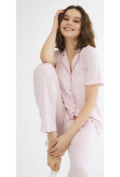 Penti Açık Pembe Gift Ditsy Pijama Takımı