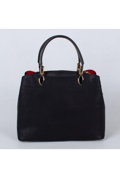 Victoria Polo 0235 El ve Omuz Kadın Çantası Siyah