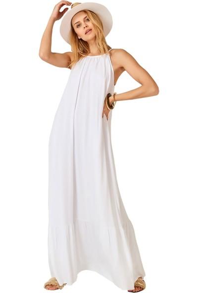 Flow By Saba Tümer Elbise Beyaz Standart