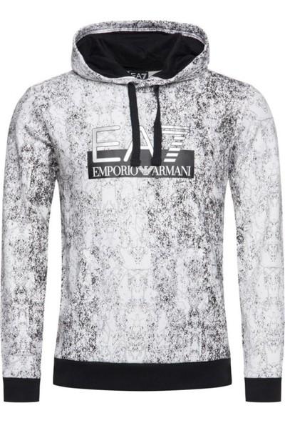 Emporio Armani Erkek Kapüşonlu Sweat 6GPM13PJF6Z U001102 - Beyaz