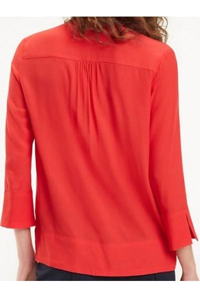 Tommy Hilfiger Kadın Bluz WW0WW24638 D002567 - Kırmızı