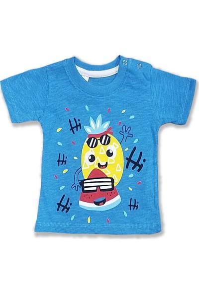 Difa Hi Hi Ananas Baskılı Erkek Bebek T-Shirt