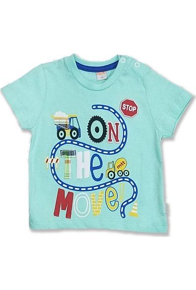 Mutti Iş Makinası Baskılı Erkek Bebek T-Shirt