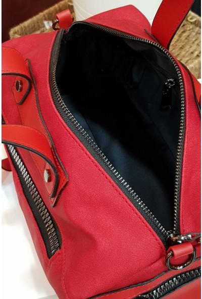 Limoya Katie Kırmızı İtaliano Model Kadın El ve Omuz Çantası