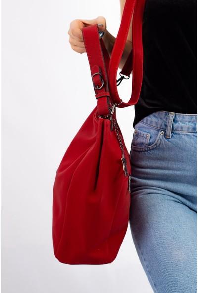 Limoya Hila Kırmızı Kadın El ve Omuz Çantası