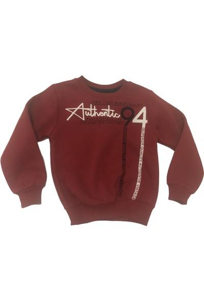 Acar Authentic 94 Baskılı Erkek Çocuk Kazak - Kırmızı - 5 - 8 Yaş