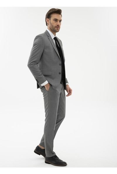 Pierre Cardin Siyah Slim Yelekli Kombin Takım Elbise 50225924-VR046