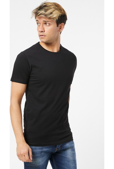 Twenty3 Erkek Sıfır Yaka Regular Fit Basic T-Shirt