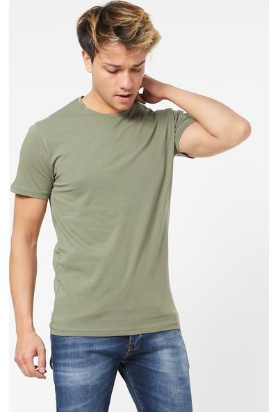 Twenty3 Erkek 2'Li Çok Renkli Paket Sıfır Yaka Basic T-Shirt