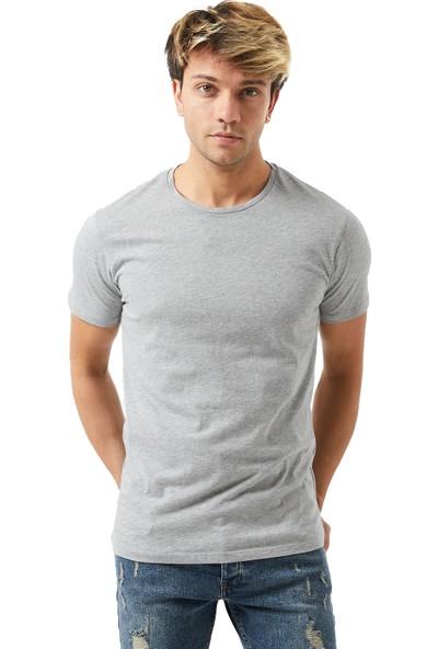 Twenty3 Erkek 3'Lü Çok Renkli Paket Sıfır Yaka Basic T-Shirt