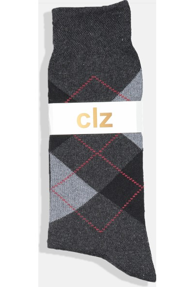 Collezione Antrasit Erkek Soket Ekose Çorap