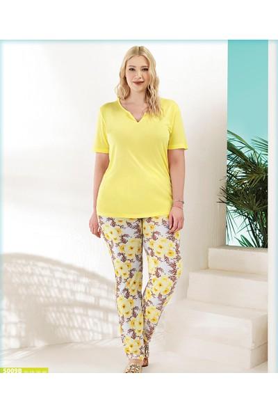 Blue Dream Kadın Battal Kısa Kol Pijama Takımı 5009