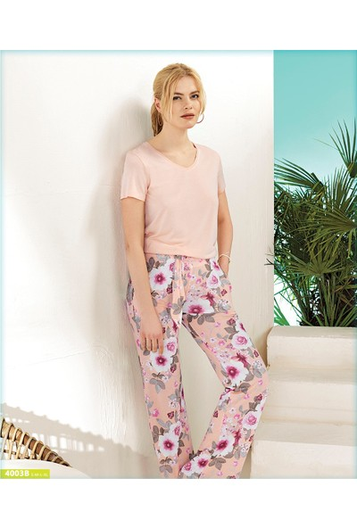 Blue Dream Kadın Viskon Kısa Kol Pijama Takımı 4003