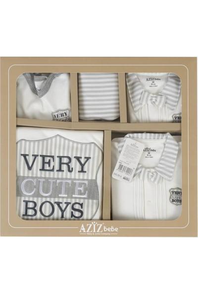 Aziz Bebe 10217 Erkek Bebek Very Cute Boys 10'lu Hastane Çıkışı
