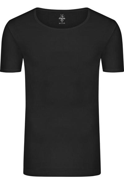 Sam Erkek Pamuklu Sıfır Yaka Tshirt - Siyah