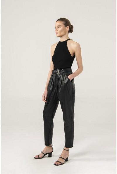 Black Noble Gracıe Siyah Pileli Pantolon