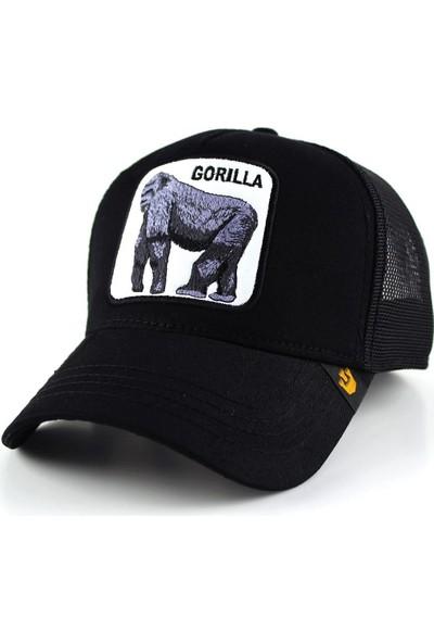 Goorin Goril Desenli Hayvanlı Şapka Siyah Renk
