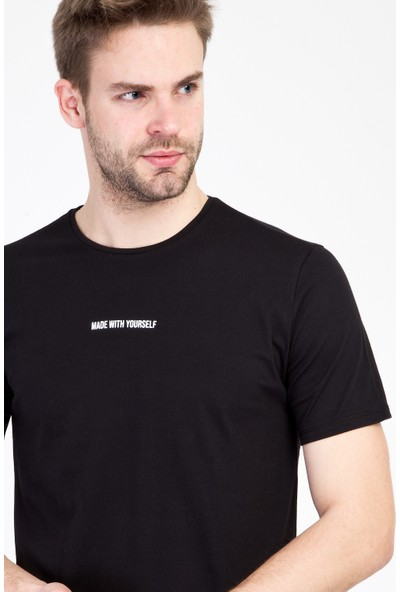 Kiğılı Erkek Bisiklet Yaka Slim Fit Baskılı T-Shirt