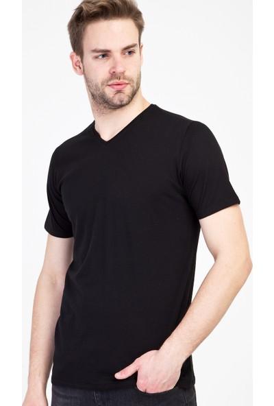 Kiğılı Erkek V Yaka Slim Fit T-Shirt