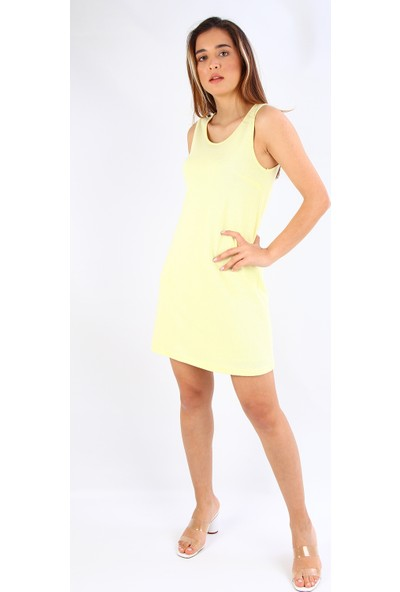 Alexander Gardi Kolsuz Mini Boy Elbise Sarı B19-49935