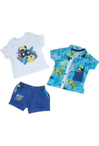 Hippıl Baby Hawaii Gömlekli 3'lü Takım