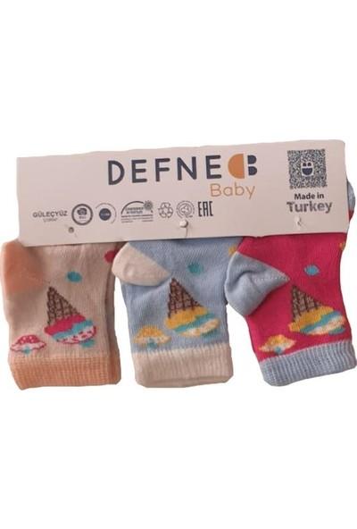 Defne Bebe Dondurma Desenli Kokulu 3'lü Çorap