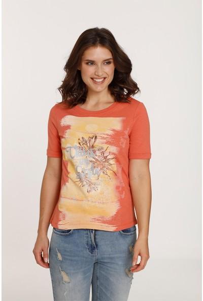 Top Secret Kadın Desenli T-Shirt