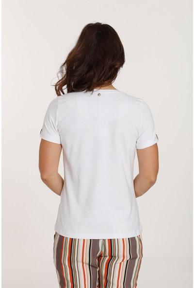Top Secret Kadın Baskılı T-Shirt