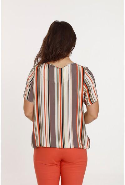 Top Secret Kadın Çizgili Gömlek