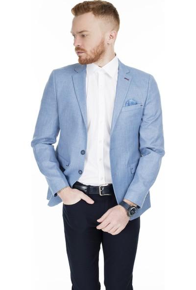 Frappoli 6 Drop Tek Yırtmaçlı Slim Fit Ceket Erkek Ceket 2162017