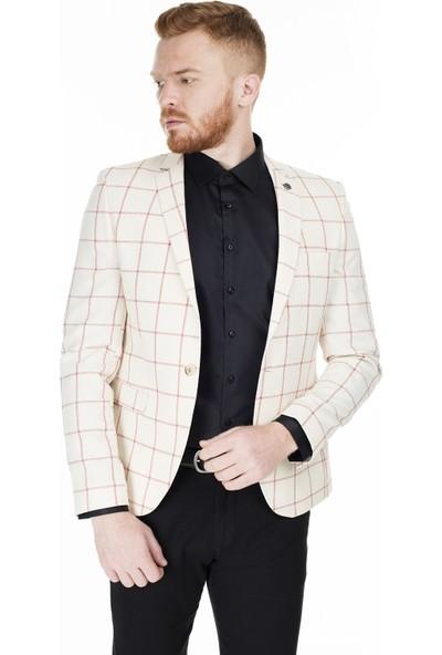Frappoli 6 Drop Tek Yırtmaçlı Slim Fit Ceket Erkek Ceket 2163259