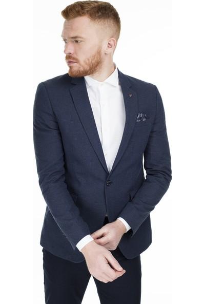 Frappoli 6 Drop Tek Yırtmaçlı Slim Fit Ceket Erkek Ceket 2163317