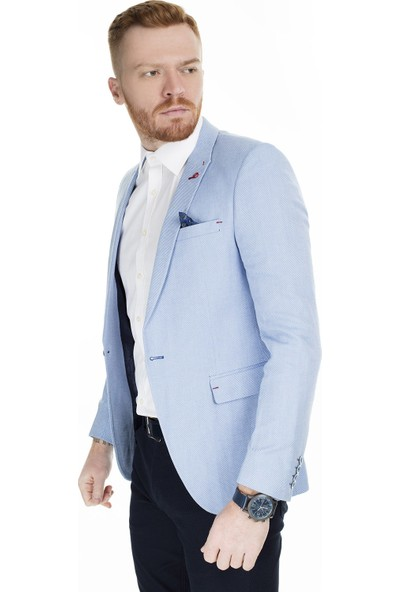 Frappoli 6 Drop Çift Yırtmaçlı Slim Fit Ceket Erkek Ceket 2163319