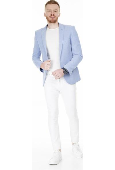 Frappoli Slim Fit 6 Drop Tek Yırtmaçlı Ceket Erkek Ceket 2163340