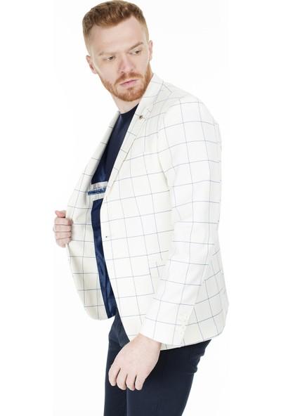 Frappoli 6 Drop Tek Yırtmaçlı Slim Fit Ceket Erkek Ceket 2163341