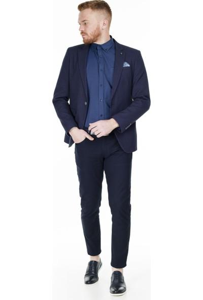 Frappoli Slim Fit 6 Drop Tek Yırtmaçlı Ceket Erkek Ceket 2163466