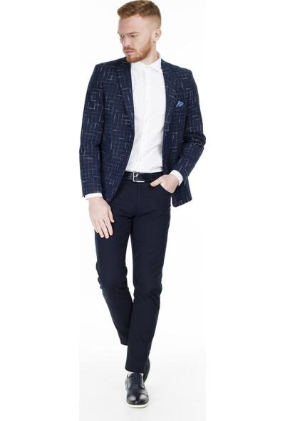 Frappoli Slim Fit 6 Drop Tek Yırtmaçlı Ceket Erkek Ceket 2163558