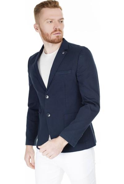Frappoli Tek Yırtmaçlı Slim Fit Ceket Erkek Ceket 2163704