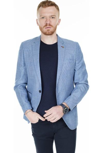 Frappoli Slim Fit 6 Drop Tek Yırtmaçlı Ceket Erkek Ceket 2167071Keten