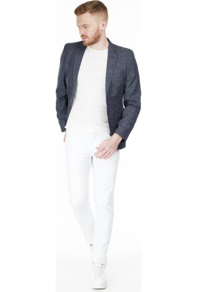 Frappoli 6 Drop Tek Yırtmaçlı Slim Fit Ceket Erkek Ceket 2169452